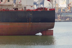 Bulk carrier. A bulk carrier in the port royalty free stock images