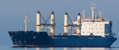 Bulk carrier. Sailing the calm sea stock photo