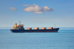 Bulk Carrier in the Sea Royalty Free Stock Photography