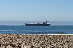 Carrier Ship. A Bulk Carrier Ship from the Beach Stock Photography