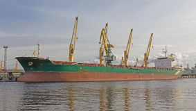 Bulk carrier ship Stock Photography