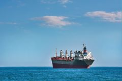 Bulk Carrier Ship. In the Black Sea royalty free stock image