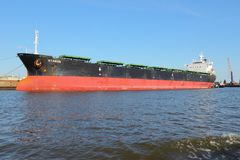 Bulk carrier ship Royalty Free Stock Photography