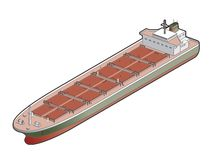 Bulk Carrier Ship Icon. Design Elements 41d Royalty Free Stock Photo