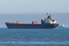 Bulk Carrier Ship. A Bulk Carrier Ship in Open Water Royalty Free Stock Photography