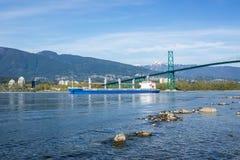 A bulk carrier ship royalty free stock photo