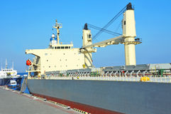 Bulk carrier ship. In port of Odessa, Ukraine royalty free stock photos