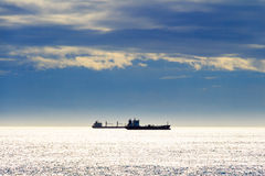 Bulk-carrier ship on the sea Stock Photography