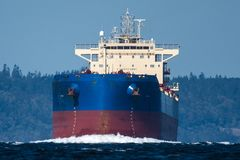 QM/V Quest Trade inbound on Puget Sound Royalty Free Stock Photography