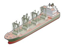 Bulk Carrier whit Cranes Icon. Design Elements 41e Royalty Free Stock Photos