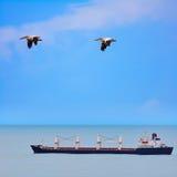 Bulk-carrierschip Stock Afbeelding