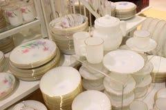 Bulk of ceramic porcelain Royalty Free Stock Photos