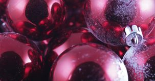 In bulk Christmas balls. In bulk New Year`s and Christmas balls stock video footage