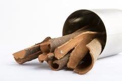 Bulk Cinnamon. Sticks royalty free stock photos