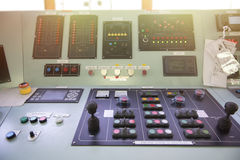 Bulk control panel in Tanker.  Stock Images