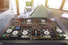 Bulk control panel in Tanker. Royalty Free Stock Photos
