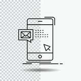 bulk, dialog, instant, mail, message Line Icon on Transparent Background. Black Icon Vector Illustration royalty free illustration