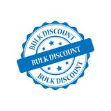 Bulk discount stamp illustration. Bulk discount blue stamp seal illustration design Stock Photo