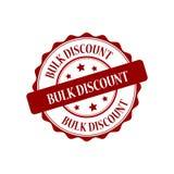 Bulk discount stamp illustration. Bulk discount red stamp seal stamp illustration Stock Image
