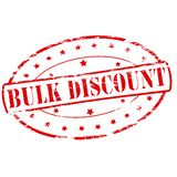 Bulk discount. Rubber stamp with text bulk discount inside,  illustration Royalty Free Stock Images