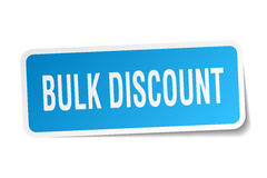 Bulk discount square sticker Stock Image
