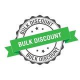 Bulk discount stamp illustration. Bulk discount stamp seal illustration design Royalty Free Stock Photo