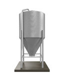 Bulk Feed Silo. Isolated on white background. 3D render Royalty Free Stock Images