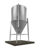 Bulk Feed Silo. Isolated on white background. 3D render Royalty Free Stock Image
