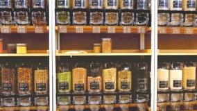 Bulk food store dispenser bins shelves sustainable zero waste eco friendly shop market