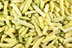 Bulk frozen beans. All over image royalty free stock images