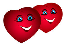 Bulk funny hearts. Stock Images
