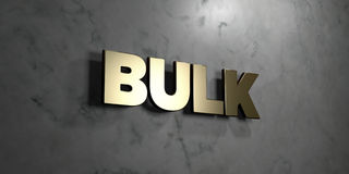 Bulk - Gold sign mounted on glossy marble wall  - 3D rendered royalty free stock illustration Stock Photos