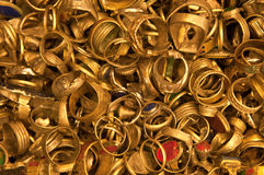 Bulk Golden Rings Royalty Free Stock Photography