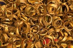 Bulk Golden Rings. Treasures found royalty free stock photography