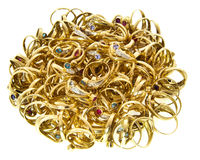 Bulk of golden rings Stock Photography