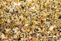 Bulk of golden rings Stock Images