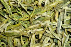 Bulk Green Tea Leaves. Background made of bulk green tea leaves Royalty Free Stock Photo