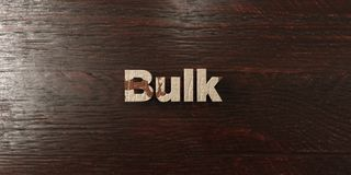 Bulk - grungy wooden headline on Maple  - 3D rendered royalty free stock image Royalty Free Stock Images