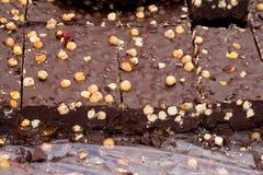 Bulk hazelnut chocolate Stock Photos