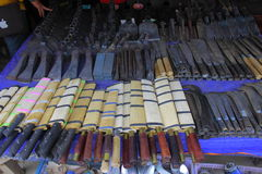 Bulk of knife in shop for sale Royalty Free Stock Image