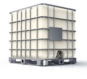 Bulk liquid container isolated on a white background.  royalty free stock photo