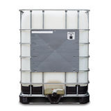 Bulk liquid container. Bulk plastic oil or liquid containers with metallic cage, on white background with clipping path stock images