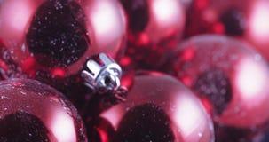 In bulk Christmas balls. In bulk New Year`s and Christmas balls stock video