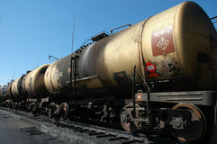 Bulk-oil train. The tank with crude oil. Russia. Russian railways. 'Russian Railways Company'. Bulk-oil train. The tank with crude oil stock image