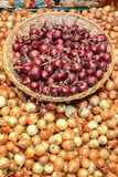 bulk onion basket Stock Photography