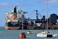 Bulk Ore Carrier Port Elizabeth Royalty Free Stock Image