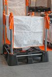 Bulk Pallet Sack. Pallet Bag for Bulk Cargo Materijal Transport royalty free stock image