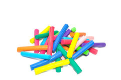 Bulk of  plasticine stick  on white background Royalty Free Stock Images