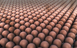 Bulk production. A lot of eggs in bulk production Royalty Free Illustration