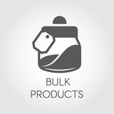 Bulk products in the bank flat icon. Cookery and kitchen accessories concept. Vector illustration Royalty Free Stock Photography